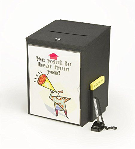 Locking Metal Suggestion Box With Hinged Lid Security