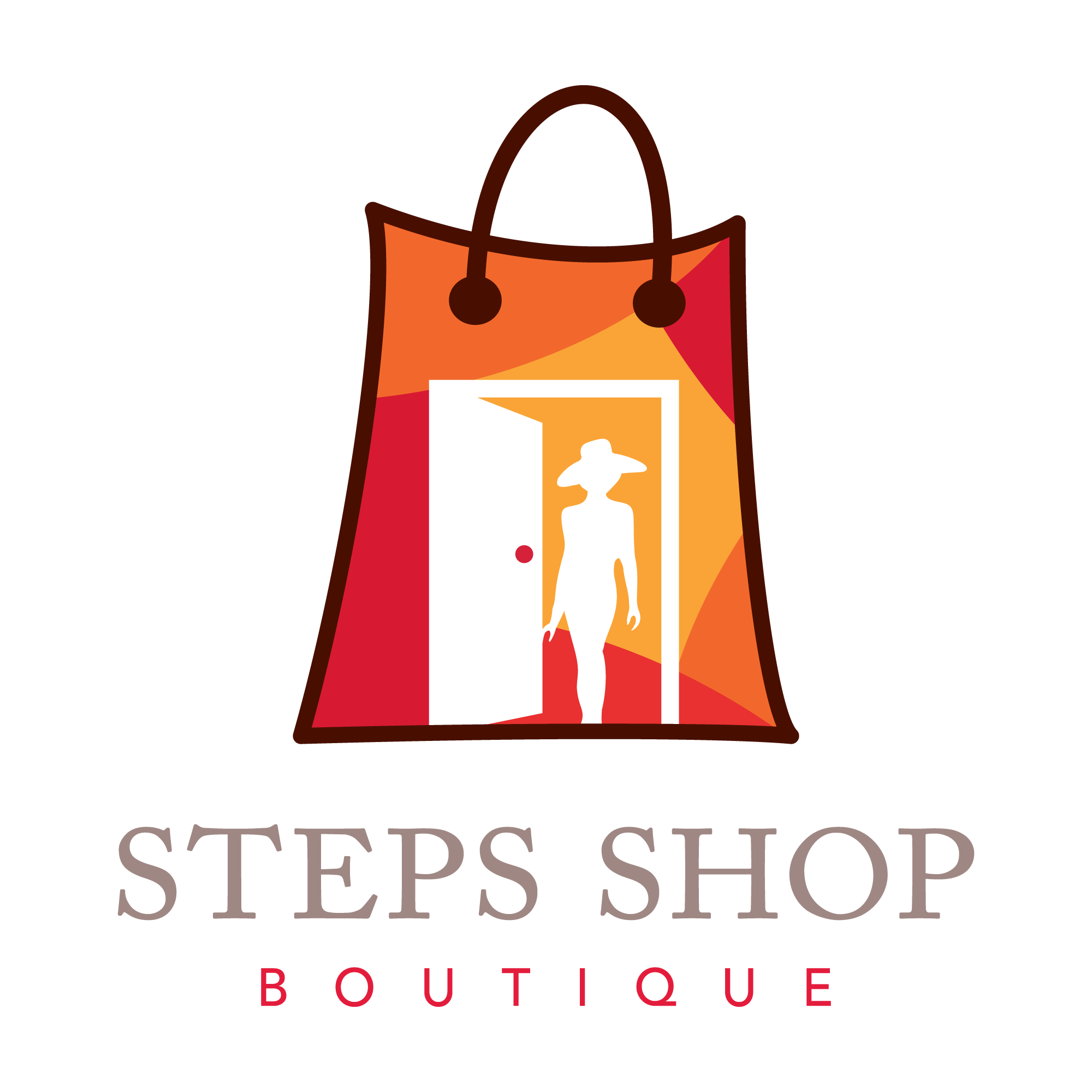 801130c2d02d A feminine logo with a colorful and attractive design showing a shopping  bag in vibrant colors