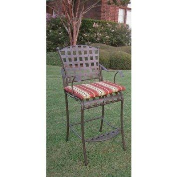 amazon com santa fe bar height wrought iron patio bar stool