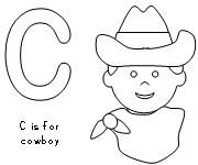 Cowboy Themed Coloring Pages-several to choose from at