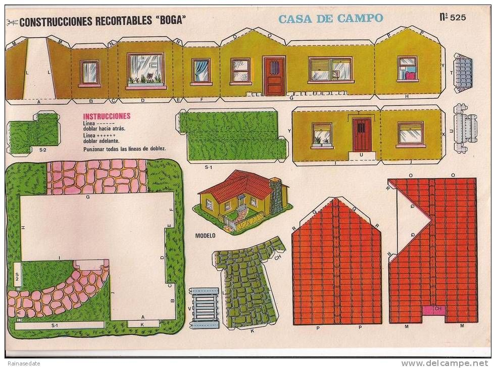 Casitas modernas recortables de papel buscar con google for Fotos de casas modernas para imprimir