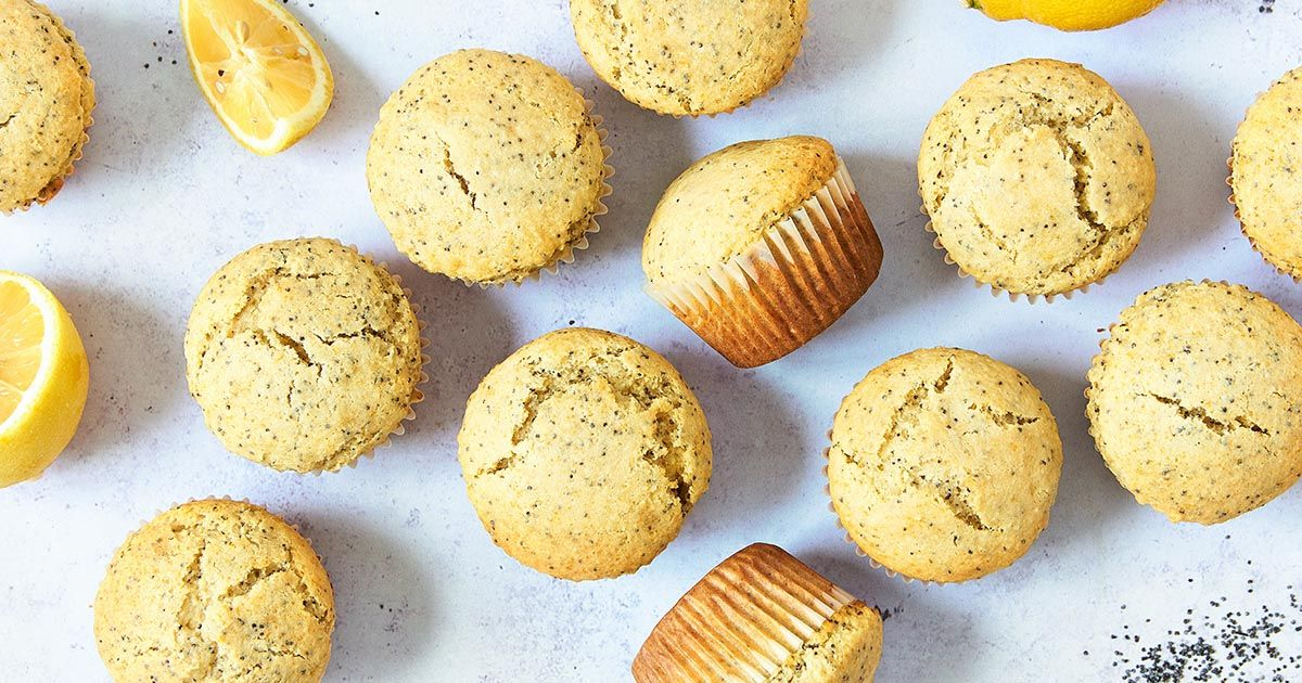 Almond Flour Lemon Poppy Seed Muffins Recipe Lemon