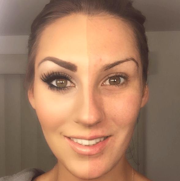 Ins ungeschminkt solarium oder geschminkt make up