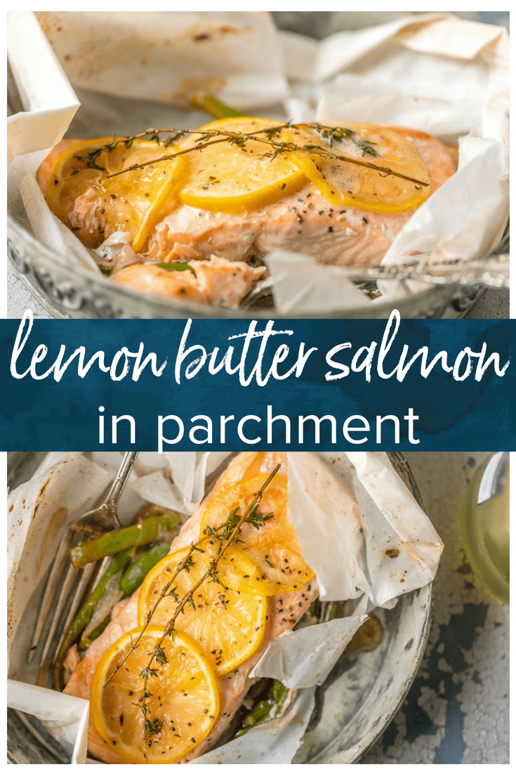 Lemon Butter Salmon in Parchment #fishmeal