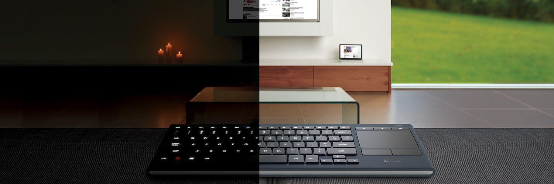 Illuminated Living Room HTPC Keyboard K830