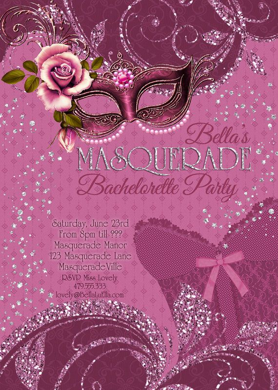 masquerade bachelorette party invitation on etsy 1000 oooh