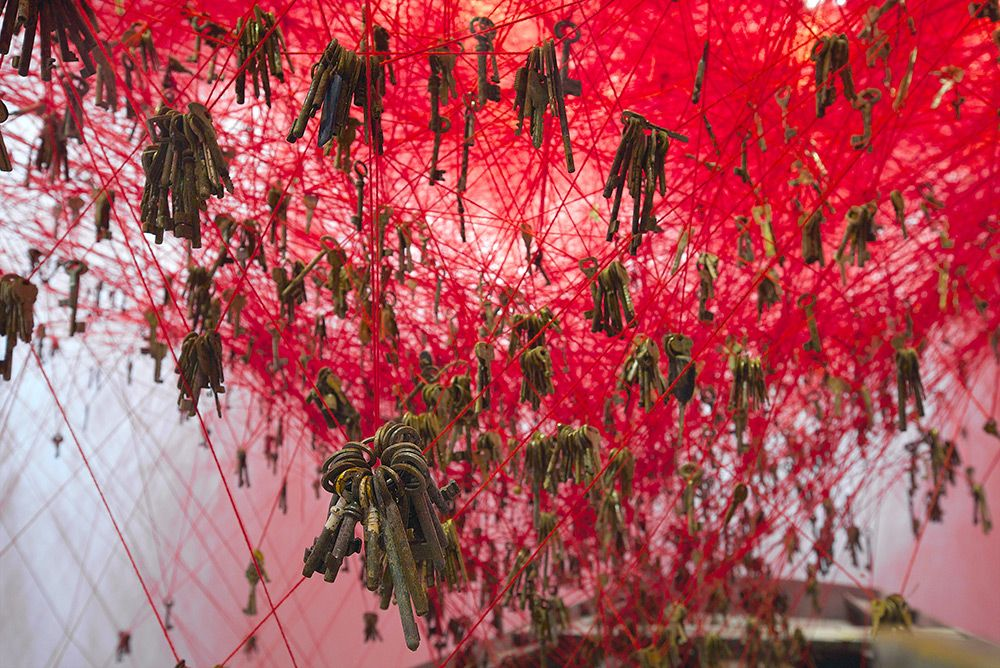 Installation Artist Chiharu Shiota Casts A Tangled Web Of Thread And