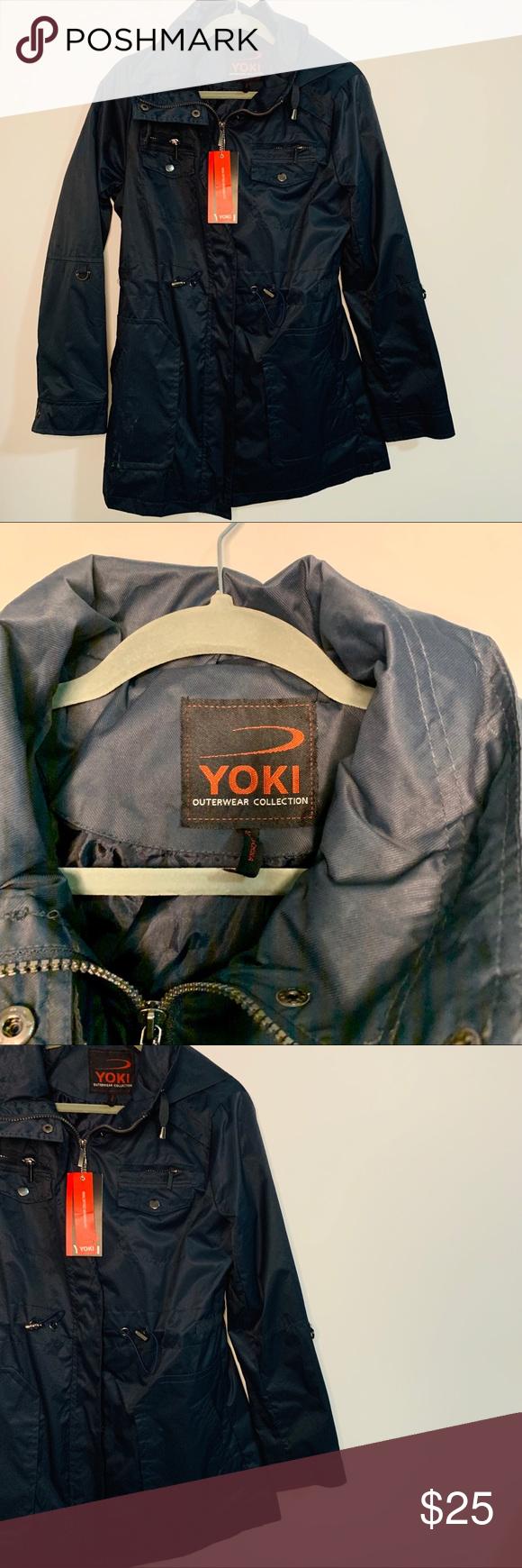 Yoki Navy Outerwear Jacket Outerwear Jackets Jackets Outerwear [ 1740 x 580 Pixel ]
