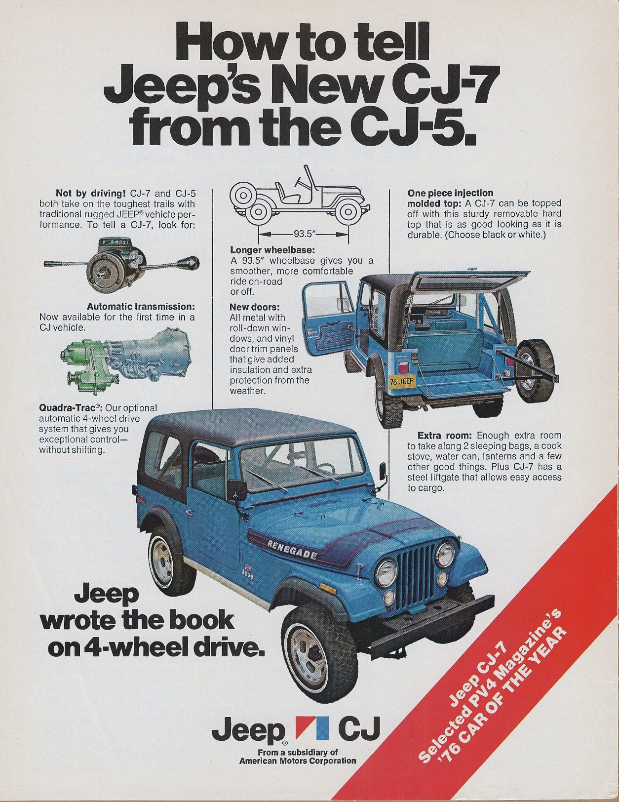Jeep Cj 7 Ad 1976 It S From The Year Mine Was Built Jeep Cj
