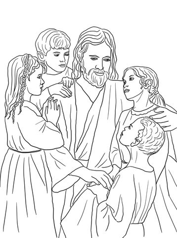 Jesus Loves All The Children Of The World Coloring Page Paginas