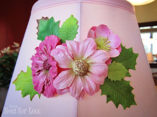 Anthropologie knock off embellished lamp shade anthropologie anthropologie inspired flower lamp shade will be the perfect finishing tough to any little girls room mightylinksfo