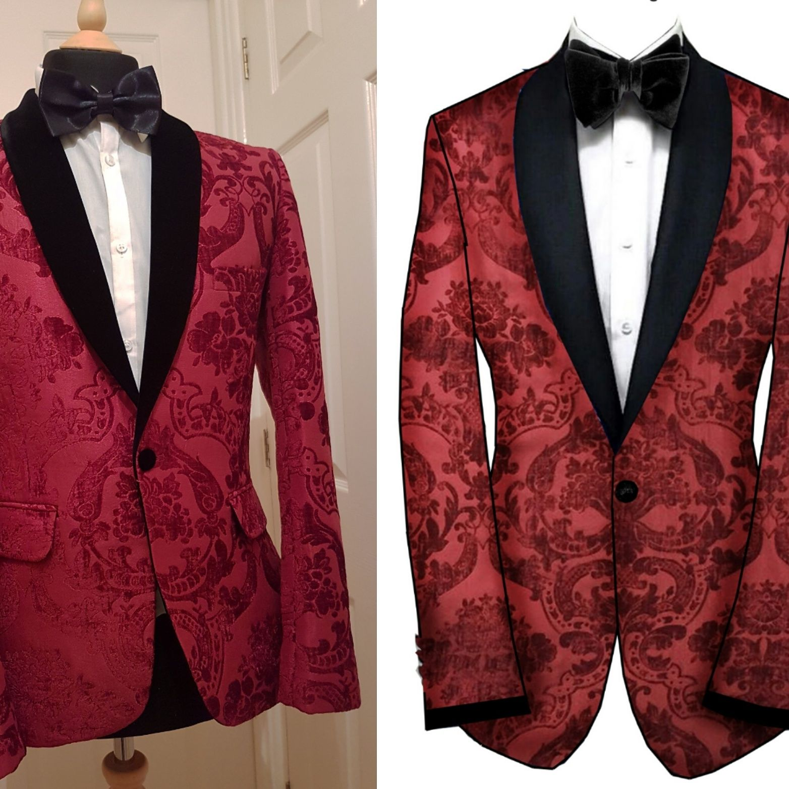 Evening Amp Wedding Pattern Paisley Amp Damask Jacket Tuxedo