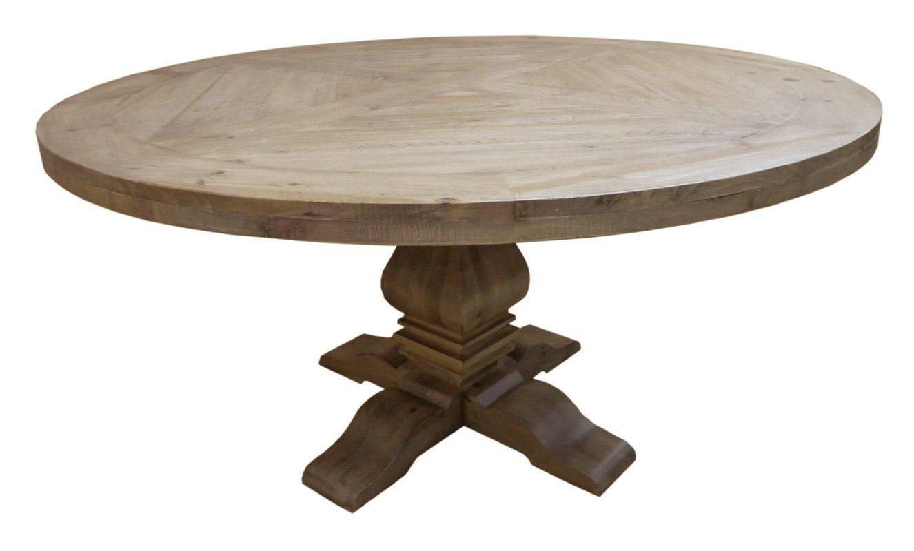 Magaw Solid Wood Dining Table With Images Round Pedestal