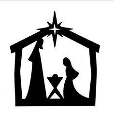 nativity silhouette clip art children s church pinterest rh pinterest com silhouette manger scene clipart silhouette manger scene clipart
