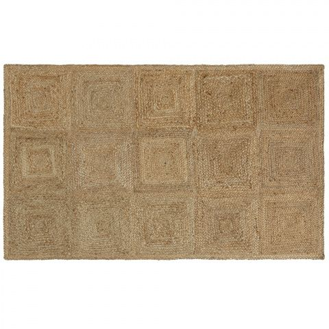 Murcott Jute Rug Soho Home Made From Golden Coloured Squares Of Braided And Used In The Rooms At Farmhouse