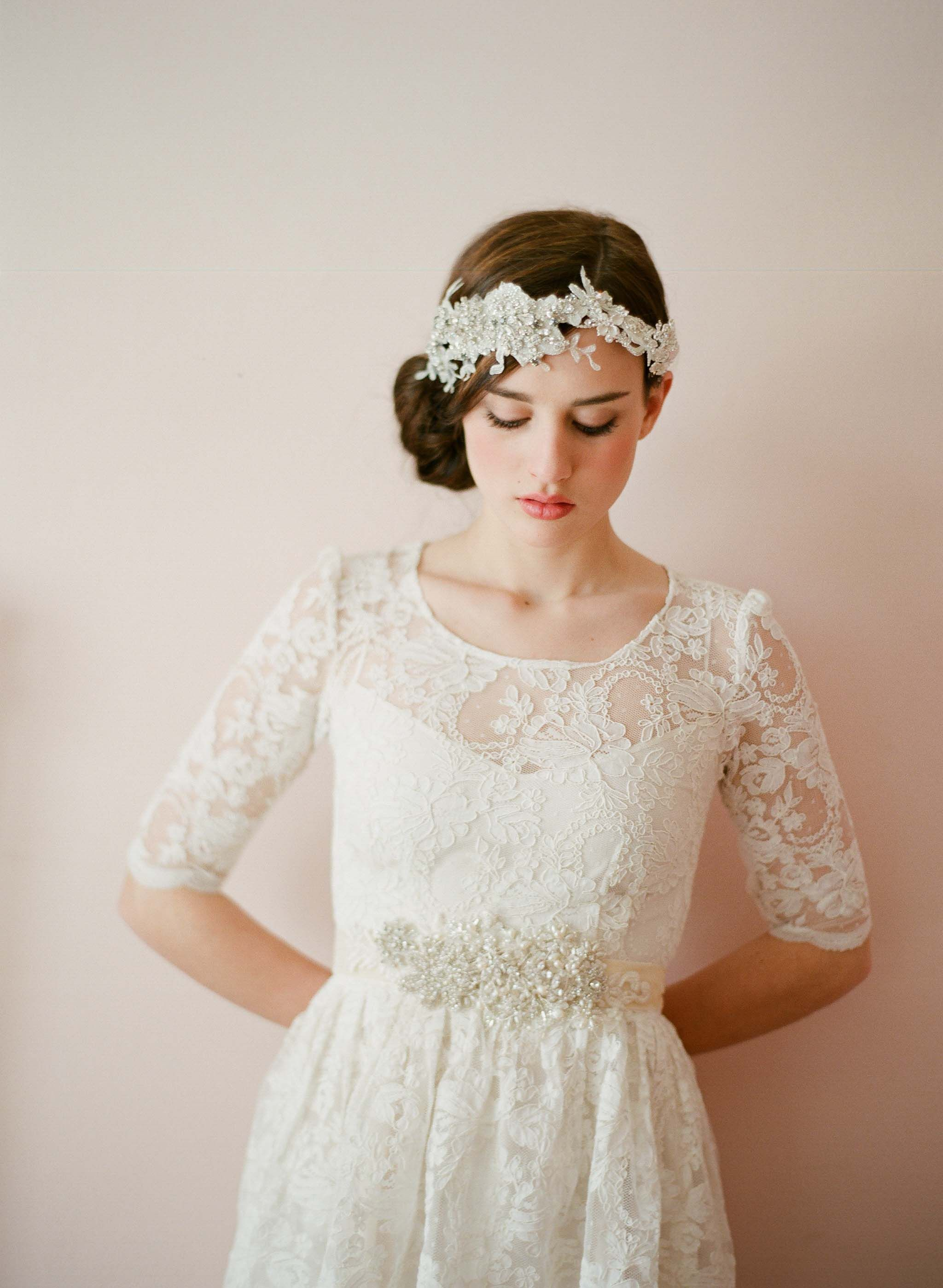 Wedding Accessories Off White Lace Dress