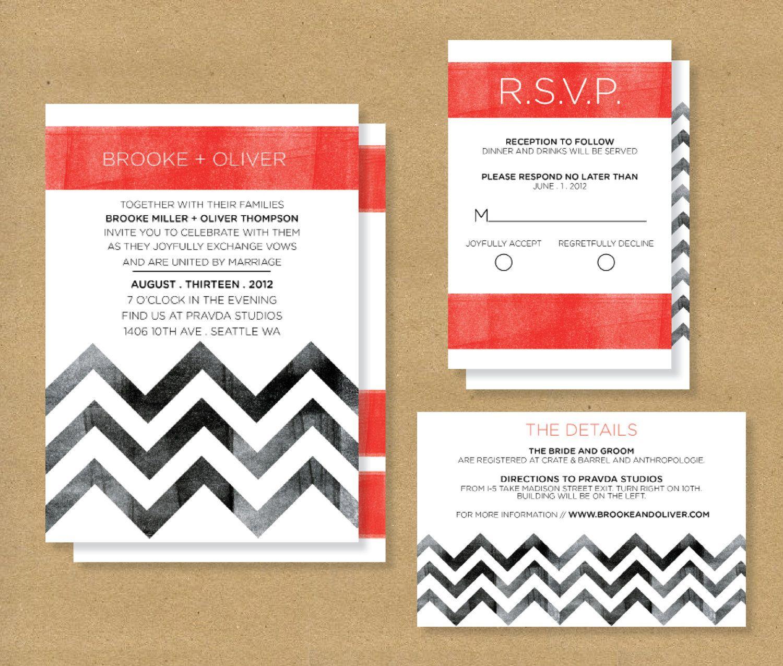chevron wedding invitations | Wedded Bliss | Pinterest | Chevron ...