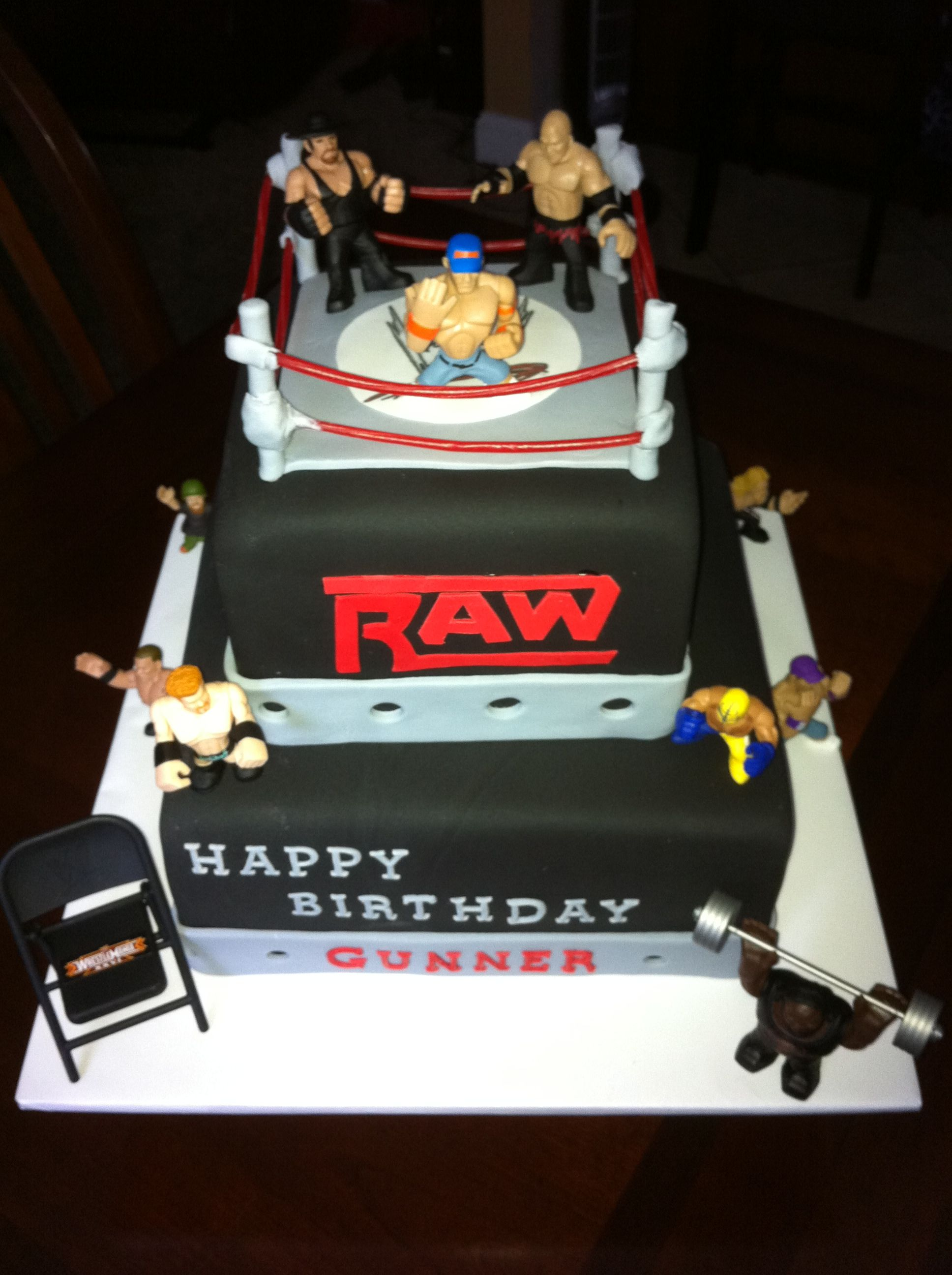 Pin by amy terry on my cakes wrestling cake boy