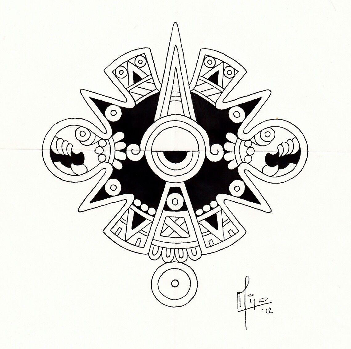 Sol Azteca Diseño Para Tatuaje Milo Diseños Para Tatuajes