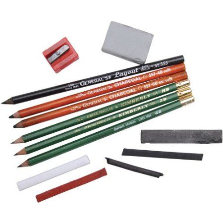 Amazon.com: General Pencil Mixed Media Drawing Class Essential Tools Kit: Arts, Crafts & Sewing