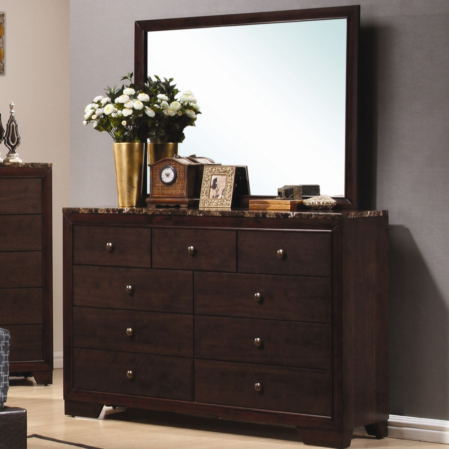 Wildon Home ® Annetta South 9 Drawer Dresser with Mirror ...