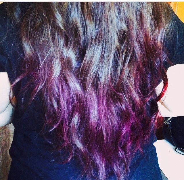 Purple And Black Cherry Kool Aid Kool Aid Hair Black Hair Dye Dyed Hair