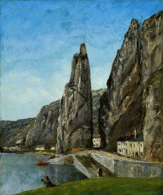 Gustave Courbet / The Rock at Bayard, Dinant / 1856 or after / oil on canvas / love the angles in this