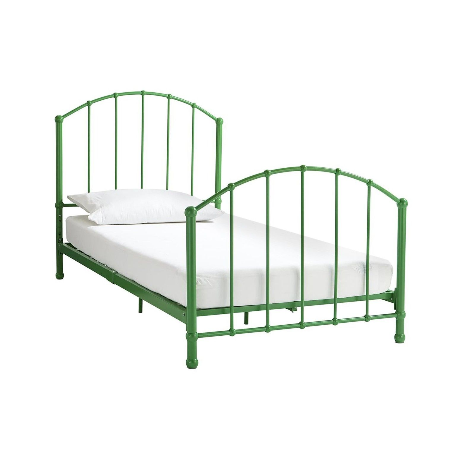 brickmill ivy metal bed twin green dorel home products