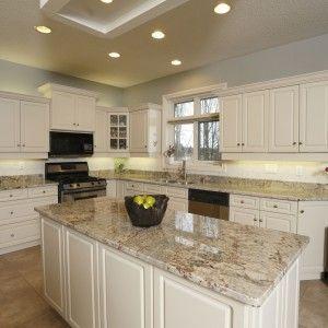 Kitchen Design Granite Gorgeous Fresh Kitchen Design With White Cabinet And Sienna Bordeaux Inspiration Design