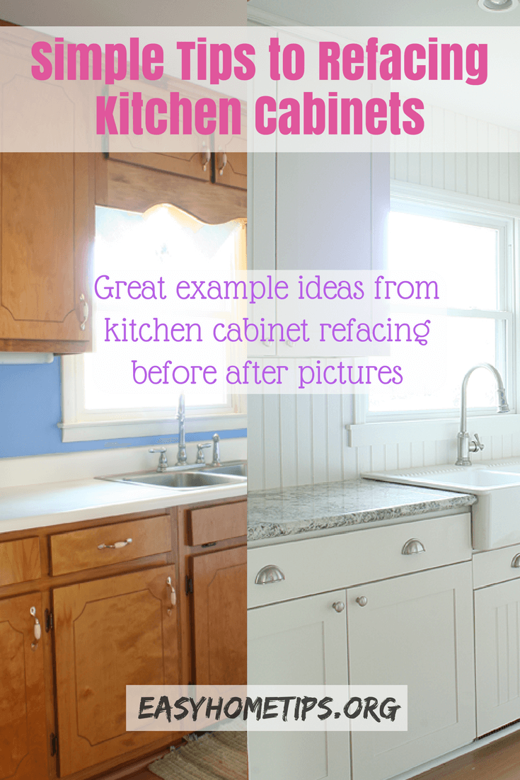 Simple Tips to Refacing Kitchen Cabinets. Great example ideas from ...