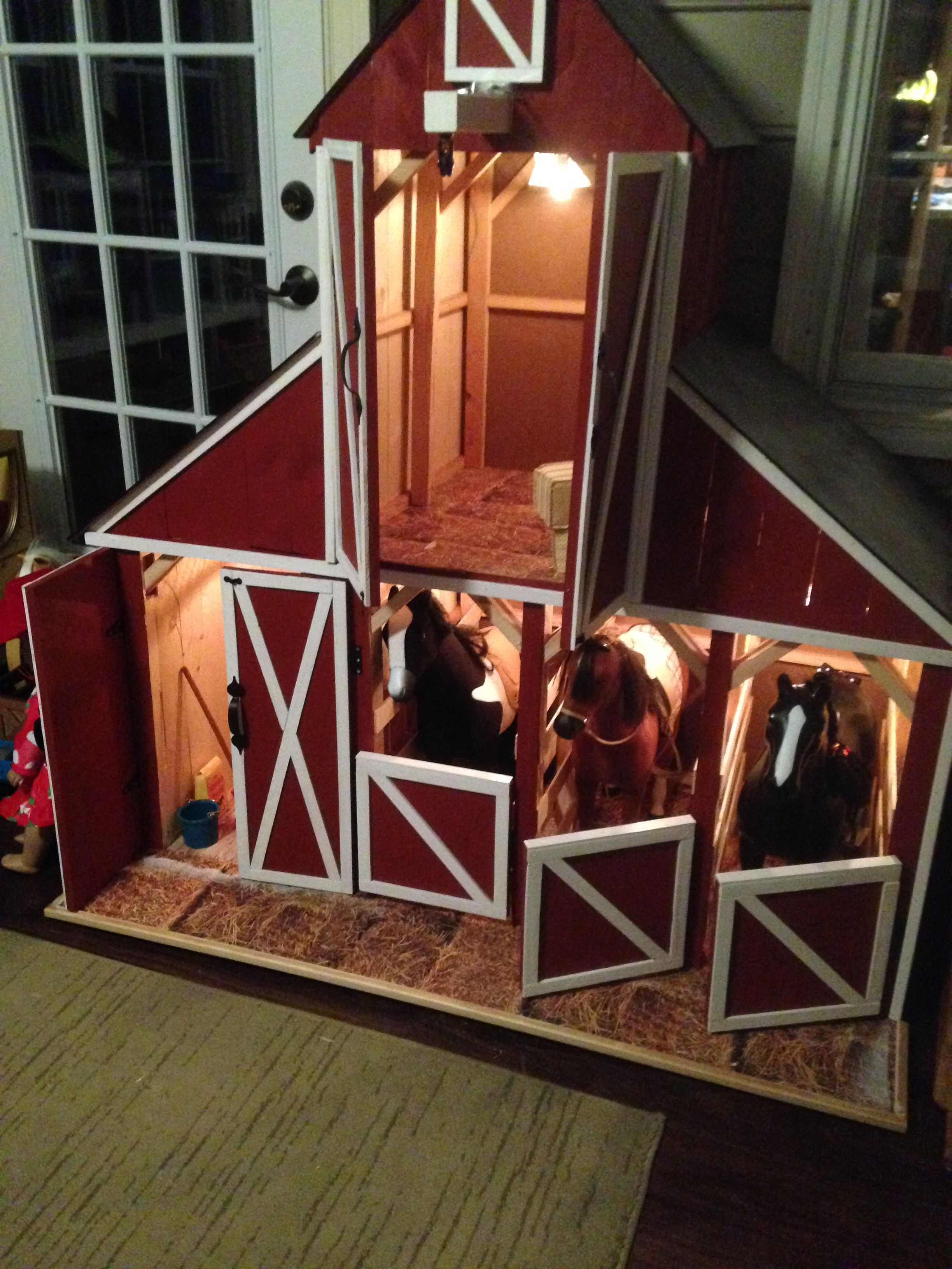 barn with a loft homemade | diy dollhouse rooms for american