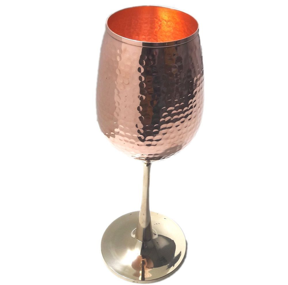 Royal stemless hand hammered copper wine goblets - Stemless wine goblets ...