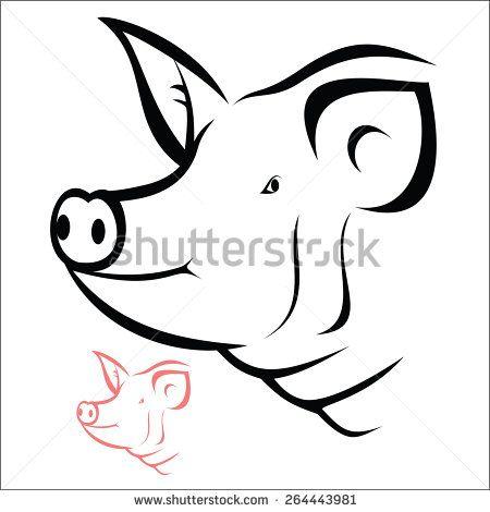 Pig Vetores E Vetores Clipart Stock Pig Illustration Pig Head Cute Panda Drawing