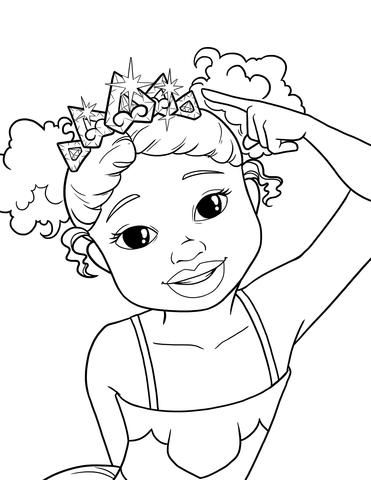 Im a pretty princess free coloring pages brown girls