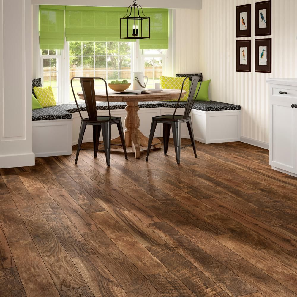 Home Decorators Collection Aged Wood Fusion 12 Mm Thick X 6 3 16 In Wide X 50 3 4 In Length Laminate Flooring 17 44 Sq Ft Case Hc13 The Home Depot Aging Wood Brown Laminate Flooring Flooring