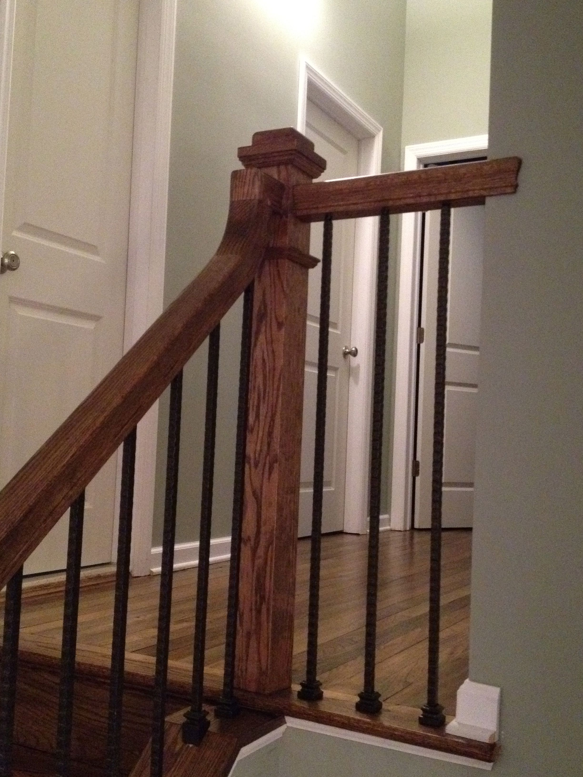 Handrail installation by Gorsegner Brothers Hardwood Floors     Handrail installation by Gorsegner Brothers Hardwood Floors