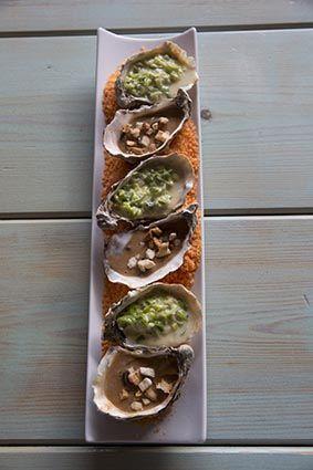 Huîtres en trois saveurs au Relais des Salines (Ile d'Oléron) ©Maurice Rougemont