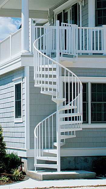 Exterior solid aluminum spiral stair kit -awesome addition to a high