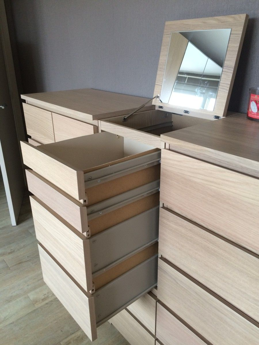 A Laundry Basket Disguised In Malm Chest Of Drawers Ikea Hackers