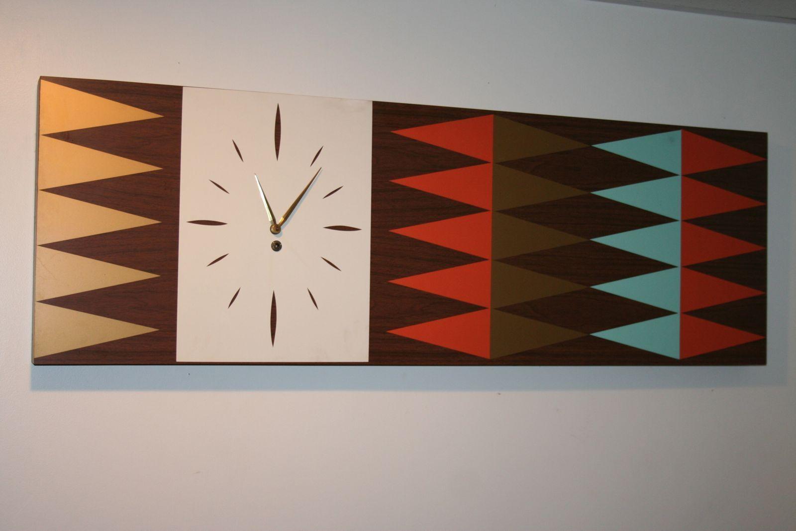 Mid Century Modern Art Clock