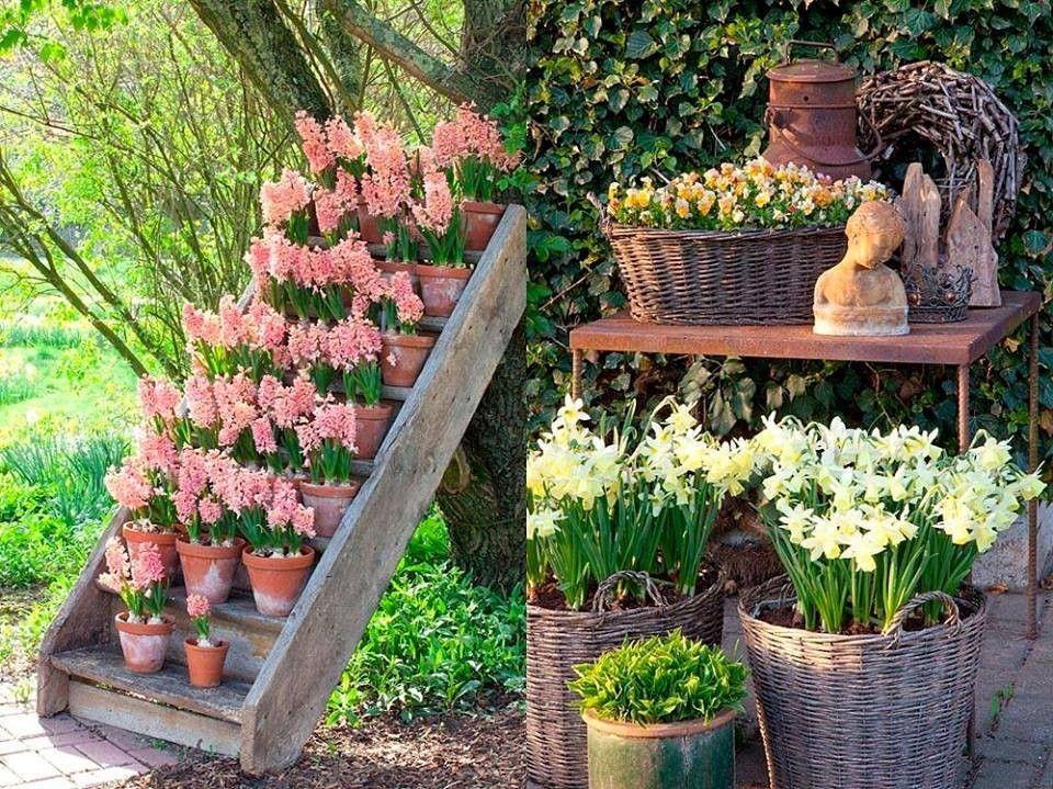 Arredare un giardino in stile shabby chic per la primavera fioriera shabby chic flowers - Shabby chic giardino ...
