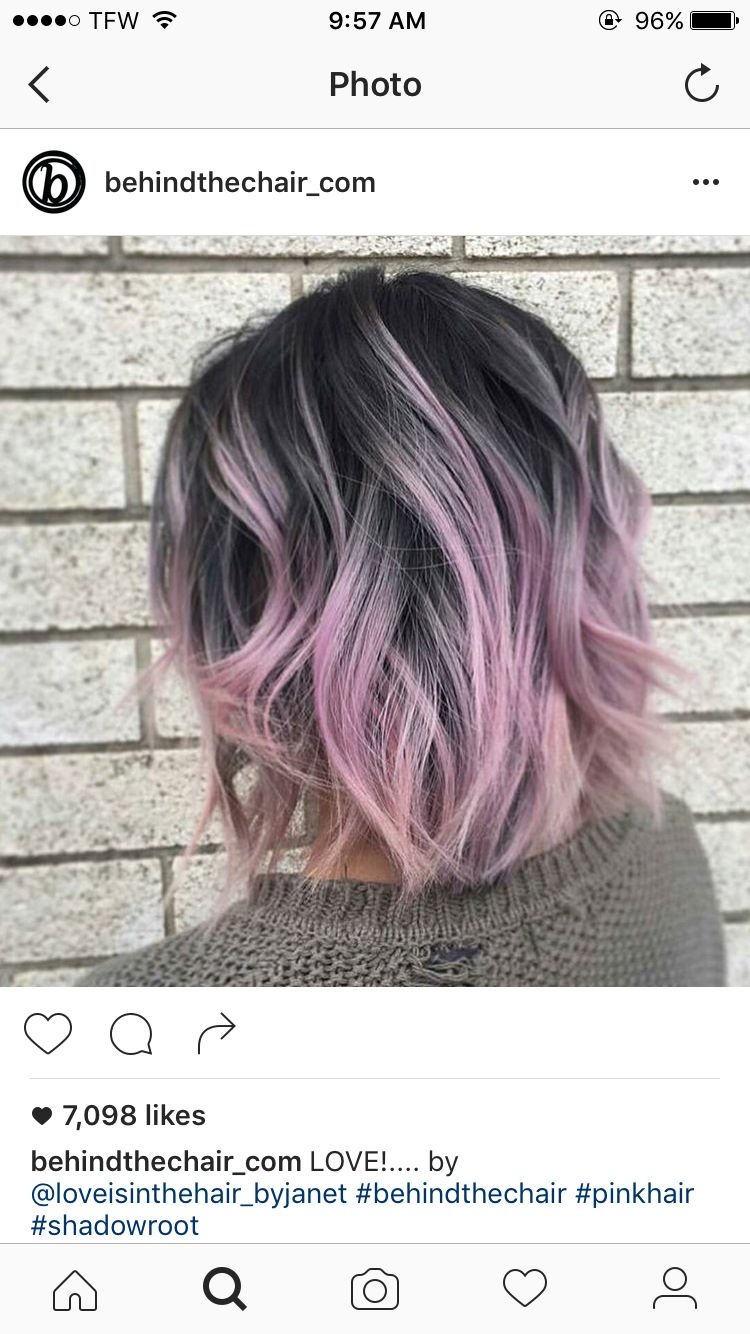 Dark Grey Roots With Purple Tips Ma Do Hair Styles Hair Pink Hair