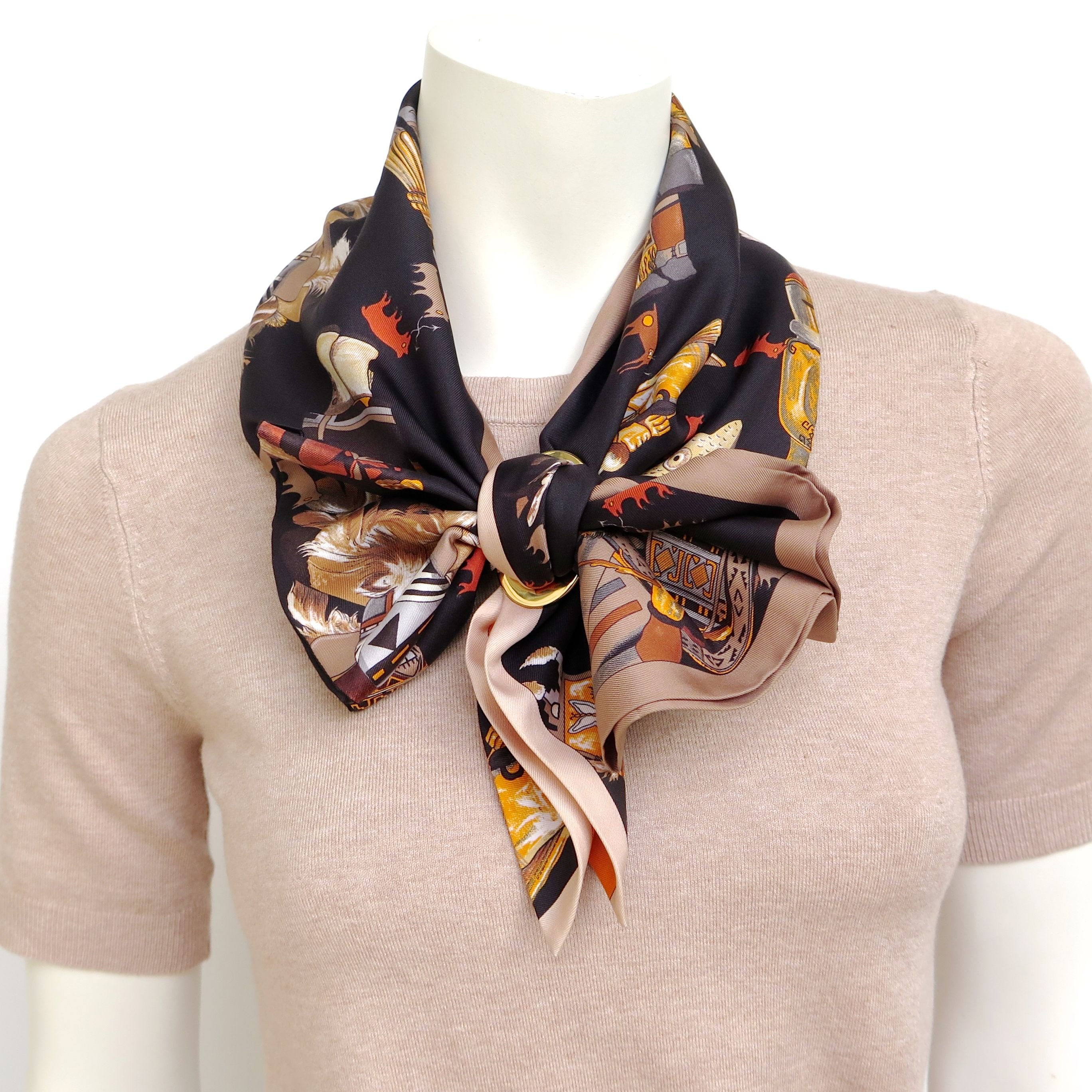 Volant knot in 2020 Scarf, Scarf knots, Twilly scarf