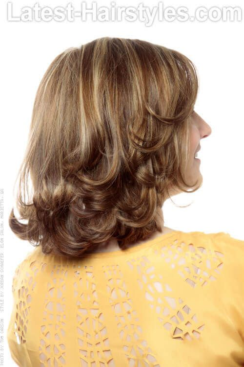 Sweet Medium Hairstyle with Long Layers Back