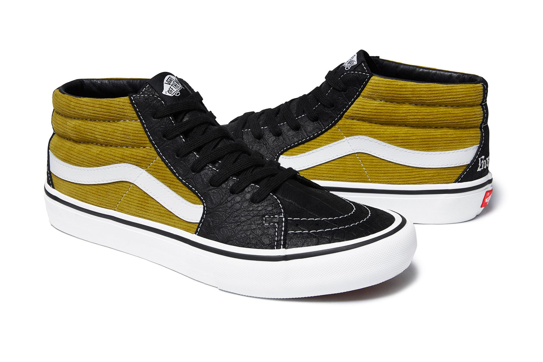 Supreme & Vans Meld Corduroy & Crocodile in Latest Footwear