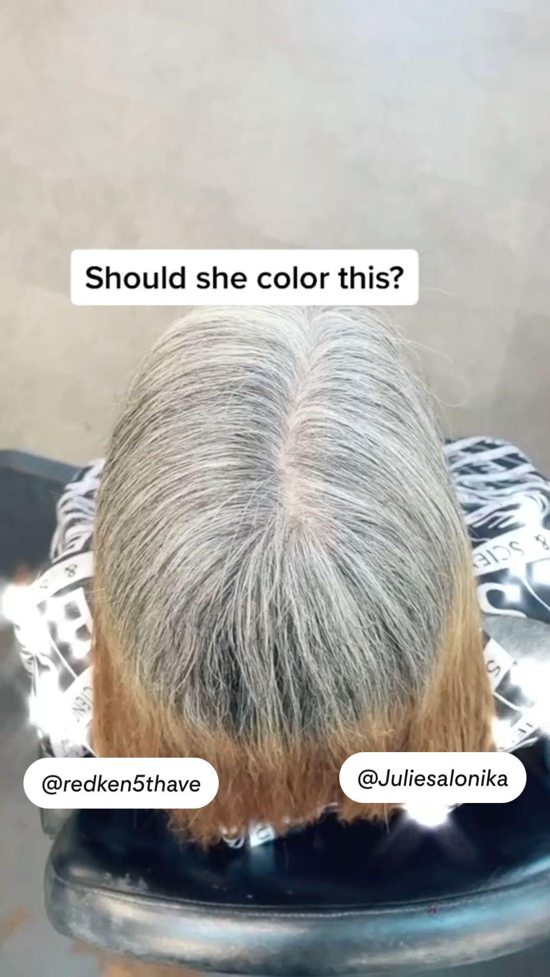 Should she color?