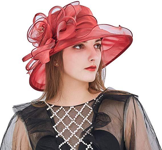 1920S Women/'s Church Kentucky Derby Fascinator Bridal Tea Party Wedding Hat USA