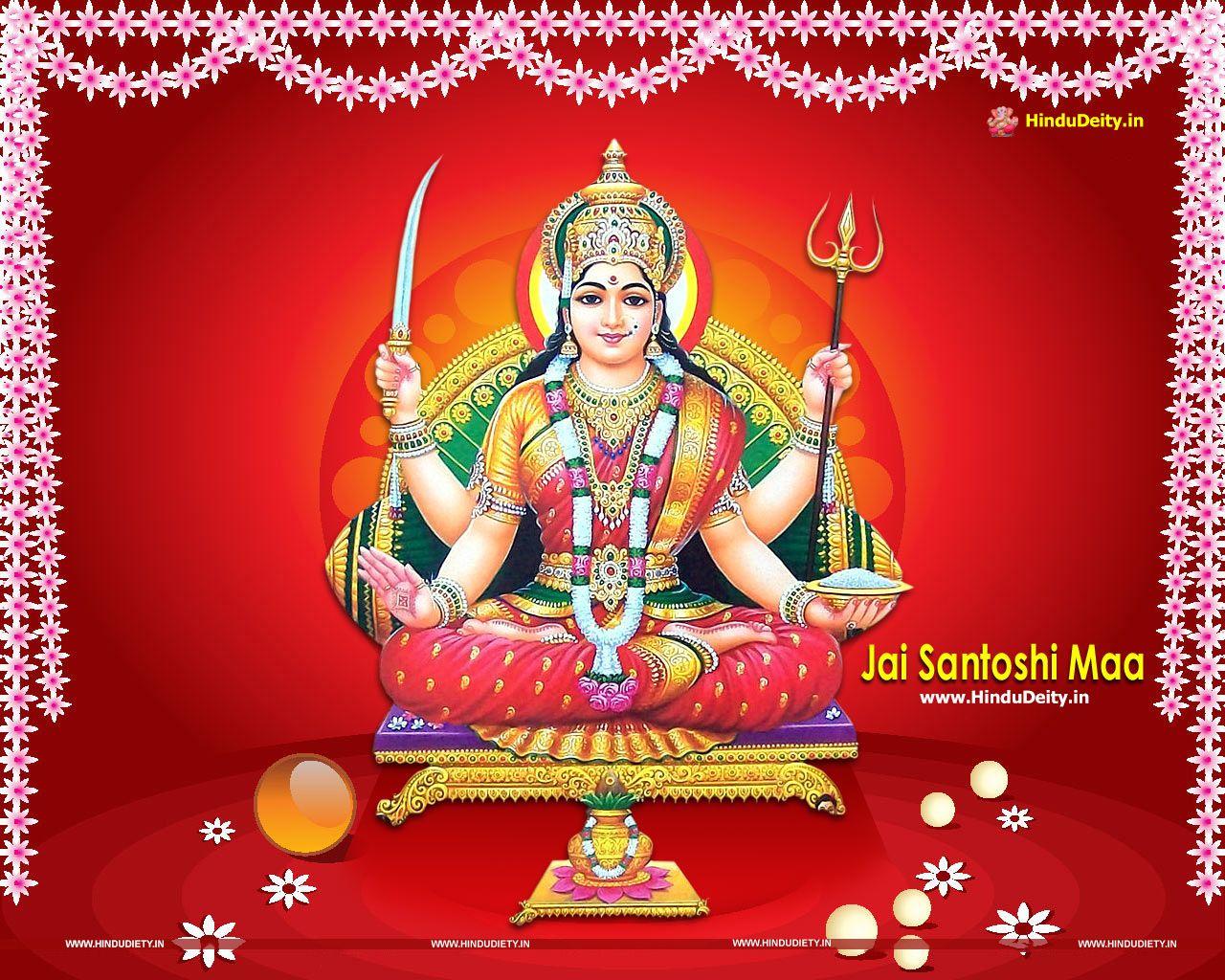 Free Download Santoshi Mata Wallpapers Hd Images Photos Maa