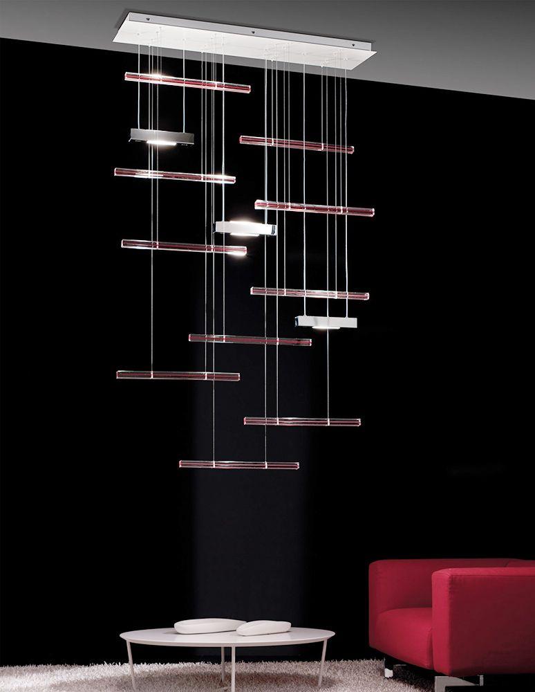 Explo Suspension Lamp, Contemporary Living Room Lighting Design at Cassoni.com