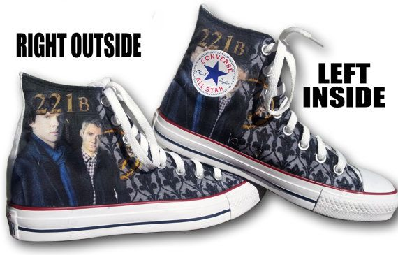 e99643d1ed6a0 Sherlock Custom Converse All Stars by ArkhamPrints on Etsy, $85.00 ...